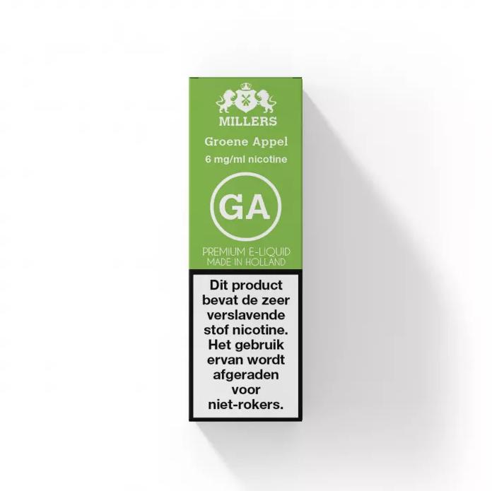 Groene Appel - Millers E-liquid (NL) Silverline