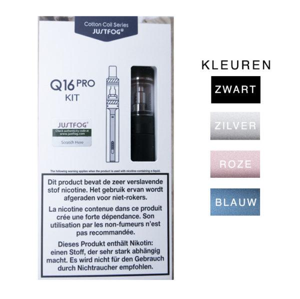 Startset Q16 Pro Batterij En Q16 Pro Clearomizer Justfog